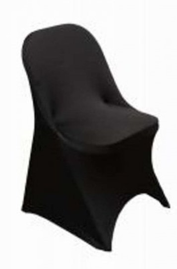 Black Spandex Folding Chair Covers Reception Decoration