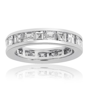 Avital & Co Jewelry Radiant Cut Non Enhanced Diamond Eternity Band In 14k White Gold( 4.11 Tcw H Vs-1)