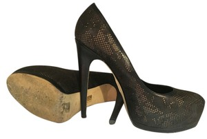 Turth or Dare by Madonna Leather Platform Black Pumps