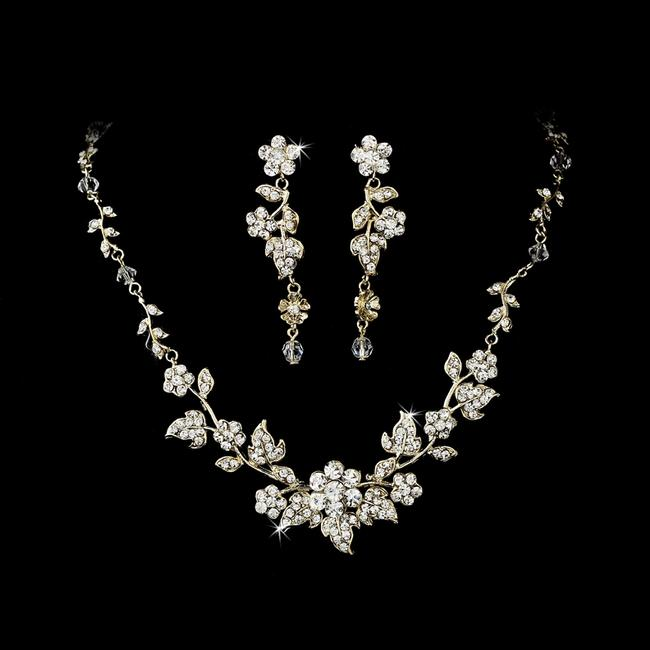 Item - Gold Plated Crystal Jewelry Set
