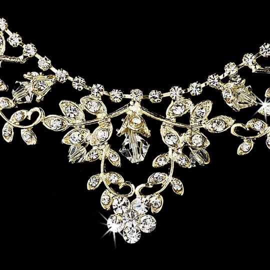 Elegance By Carbonneau Gold Plated Crystal Wedding Jewelry Set
