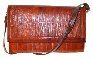 Other Vintage Eel Skin Clutch Shoulder Bag