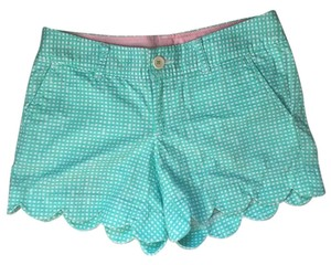 Lilly Pulitzer Dress Shorts Teal and white plaid