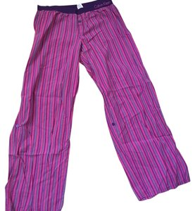 Calvin Klein Boyfriend Pants Purple and pink