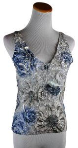 Anne Fontaine Floral Painted Size 3 Top Multicolor