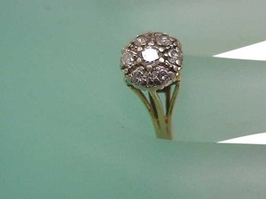 Other Vintage Estate 14kt Yellow Gold .68cttw Diamond Ring , Circa1930's