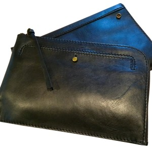 Madewell Leather Black Clutch