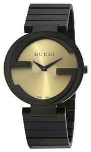 Gucci Golt Dial Black PVD Stainless Steel Designer Ladies Watch