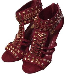 Charlotte Russe Burgundy and Gold Pumps