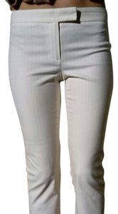 Theory Capri/Cropped Pants White with pale pink stripes