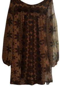 Free People short dress Multi, tan, green, brown, cream on Tradesy