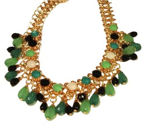 Anthropologie Anthropologie bella spring green bib spread statement necklace new