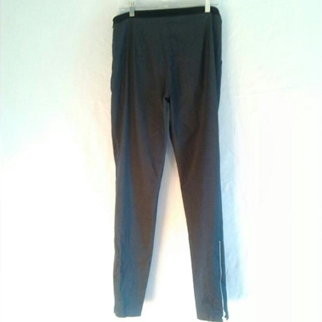 Laila Azhar Zippers Straight Pants Grey with black trim