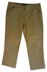 J.Crew Lizards Preppy Capris Green