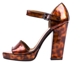 Prada Rust & Brown Tortoise Sandals