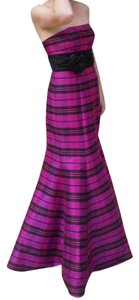 Morgan & Co Plaid Taffeta Mermaid Dress