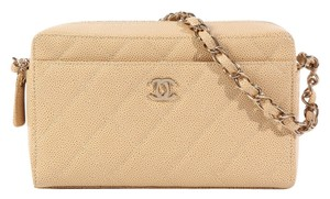 Chanel Tan Beige Camera Cc Shoulder Bag