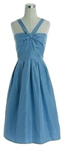 J.Crew Halter Sleveless Bridesmaid Taffeta Pockets Dress