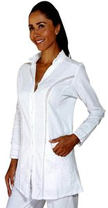 Lirome Organic Cotton Cottage Chic White Jacket