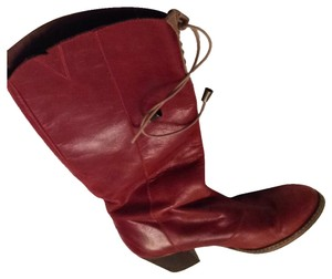 Anthropologie Burgundy Boots