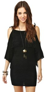 Nasty Gal Lace Trim Open Dress