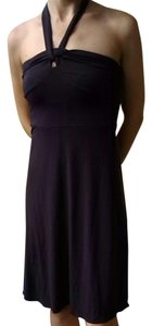 Ann Taylor short dress Purple Halter on Tradesy