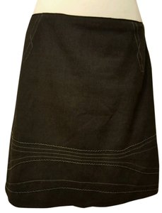 Elie Tahari Womens Straight Skirt Black