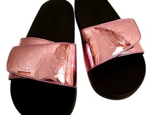 Victoria's Secret Athletic Slides Comfortable Metallic Pink Sandals