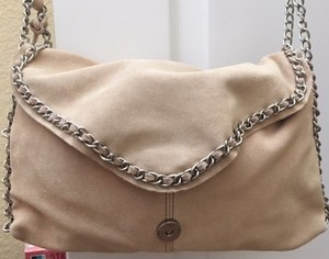 Zara Butter Suede Feminine Supple Suede Chain Strap Shoulder Bag