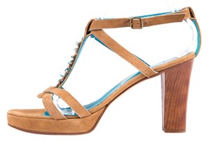 Henry Cuir Turquoise Platforms