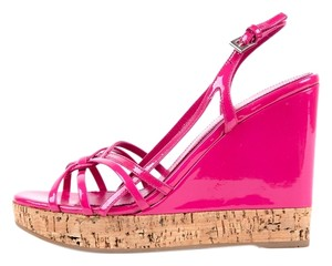 Prada Pink & Cork Wedges