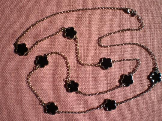 Unknown Long Silver & Black necklace