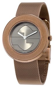 Gucci Brown PVD Stainless Steel Mesh Bracelet Designer Ladies Watch