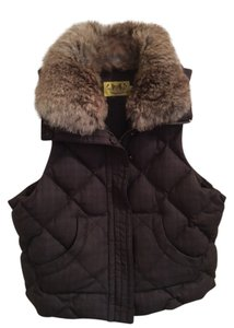 Juicy Couture Quilted Fur Collar Vest