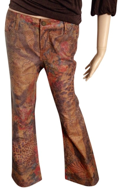 Cache Flare Leg Jeans-Coated