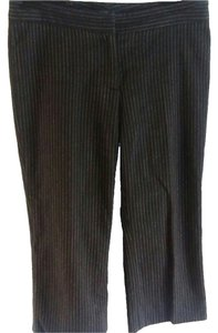 Burberry Wool Pinstripe Relaxed Pants Dark Grey