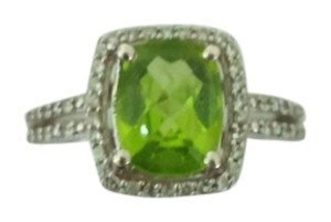 Sears Peridot Ring with tiny diamonds