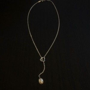 Tiffany & Co. Elsa Peretti Open Heart Lariat With Fresh Water Pearl