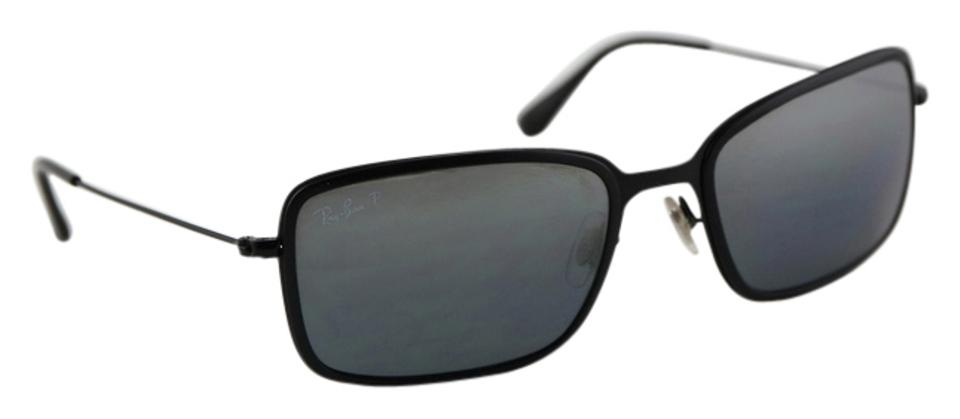 d8528f5497 Ray-Ban   Ray Ban Rectangle Black Sunglasses RB 3514-M Image 0 ...