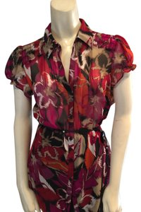 East 5th Essentials Top Multi Color Abstract
