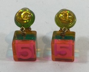 Chanel Chanel Multicolor Lucite Earrings