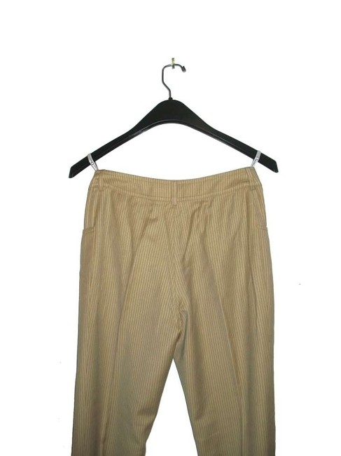 Dior Wool Christian Slacks Women Us4 Size 4 Tan Straight Pants CAMEL