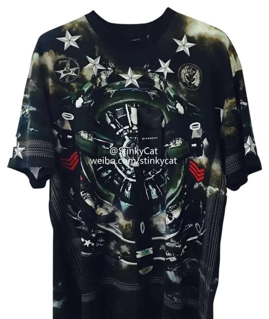 Givenchy plane print colombian fit t shirt green on tradesy Givenchy t shirt price