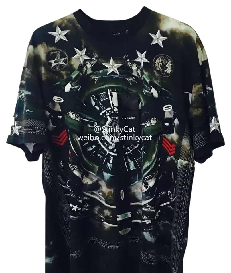 e8aa02dab Givenchy Green Plane Print Colombian Fit T-shirt Tee Shirt Size OS ...