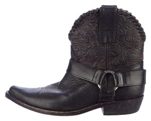 Golden Goose Deluxe Brand Tooled Leather BLACK Boots