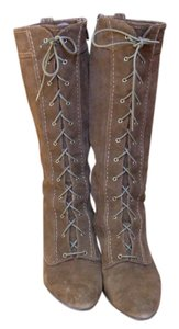 Adrienne Vittadini Laced Brown Boots