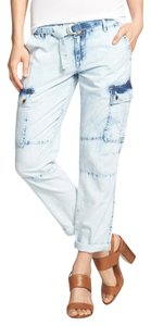 Michael Kors Cropped Nwt Cargo Jeans-Light Wash