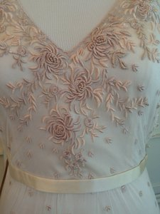 BHLDN Tea Rose Polyester; Embroidered Lace Overlay Yvie By Catherine Dean Feminine Wedding Dress Size 8 (M)