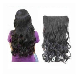 Full Head Natural Black Wavy Hair Extension Free Shipping