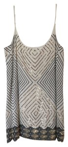 Love Sam short dress White Sequence Metal Free People on Tradesy